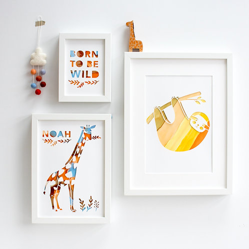 Framed Gallery Wall Safari Print Set