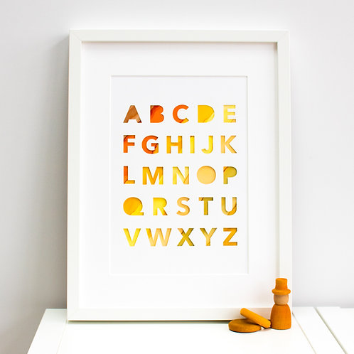 Alphabet Sampler Print