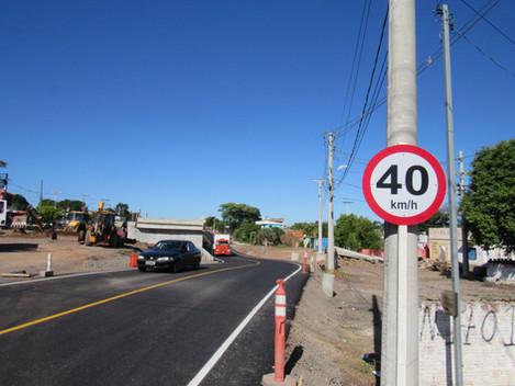 BR-287/RS opera com desvio lateral no cruzamento com a rua Capitão Vasco da Cunha