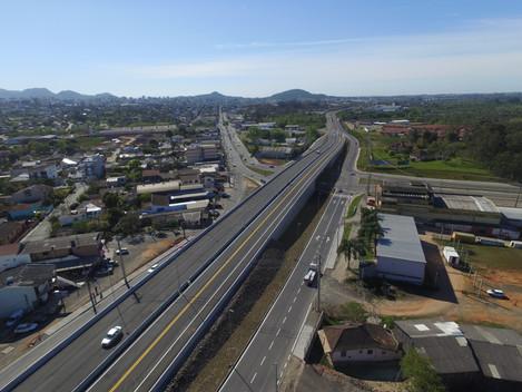 DNIT libera trânsito no viaduto da BR-158/RS em Santa Maria