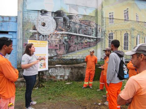 Prevenção de acidentes de trabalho é tema de encontro com colaboradores dos lotes 1 e 2