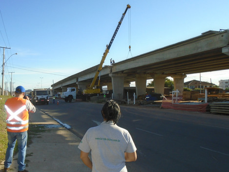 DNIT executa concretagem do viaduto da Duque de Caxias em Santa Maria/RS