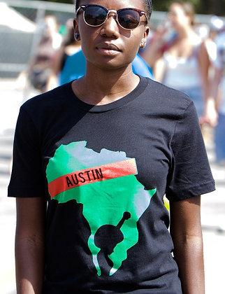 Pan-African Woman Black Tee