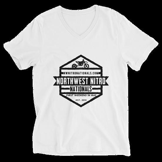Unisex Short Sleeve V-Neck T-Shirt
