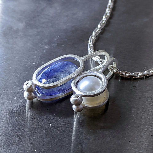 Io Necklace with Tanzanite and Pearl