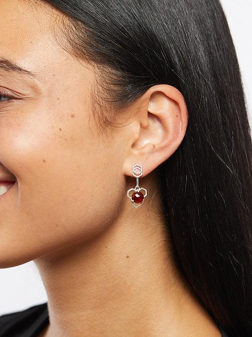 Garnet Honey Drop Earrings