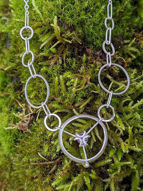 Iris Halo Necklace #2 with Alexandrite