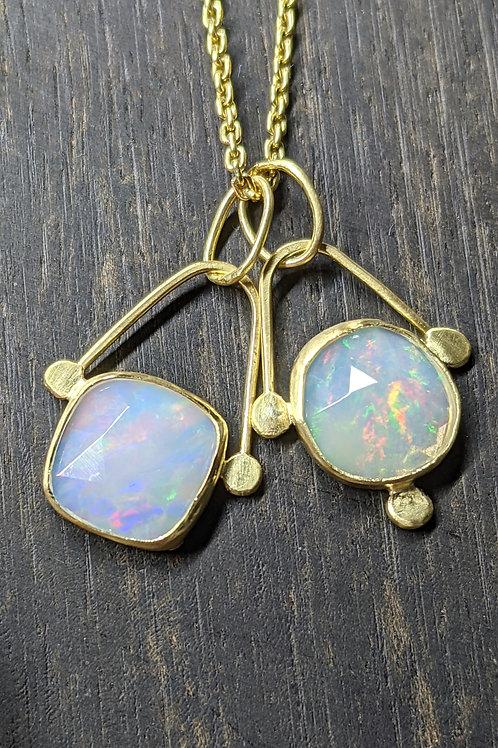 18K Opal Pendants