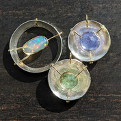 Halo Collection Pendants 18K Gold and Silver