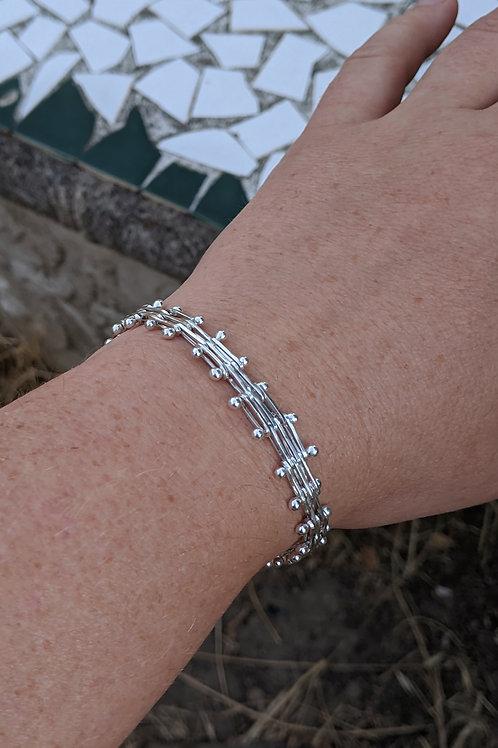 Bar Bracelet in Argentium Silver