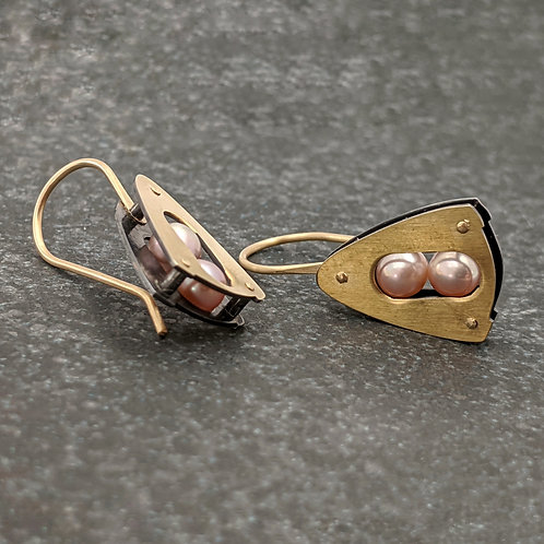 Embark Earrings in 18K Bimetal and 14K Solid Gold