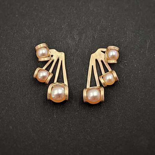 Ray Post Earrings - Gold