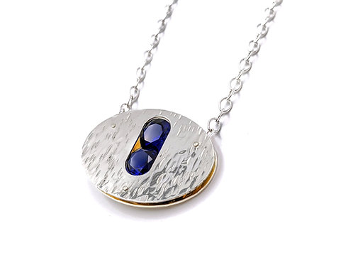 Orbit Necklace - Sapphires or Rubies
