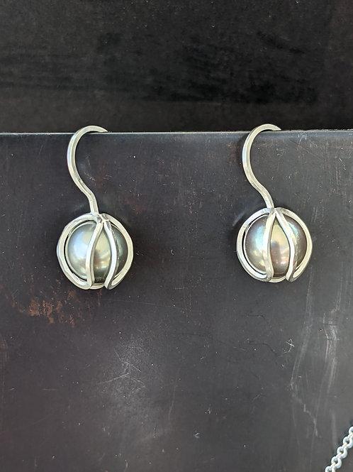 Tahitian Pearl Bud Drop Earrings