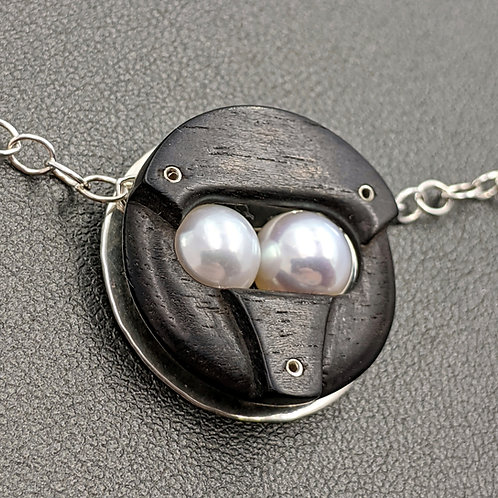 Ebony Ion Necklace - R.T.S. - Pearls #2