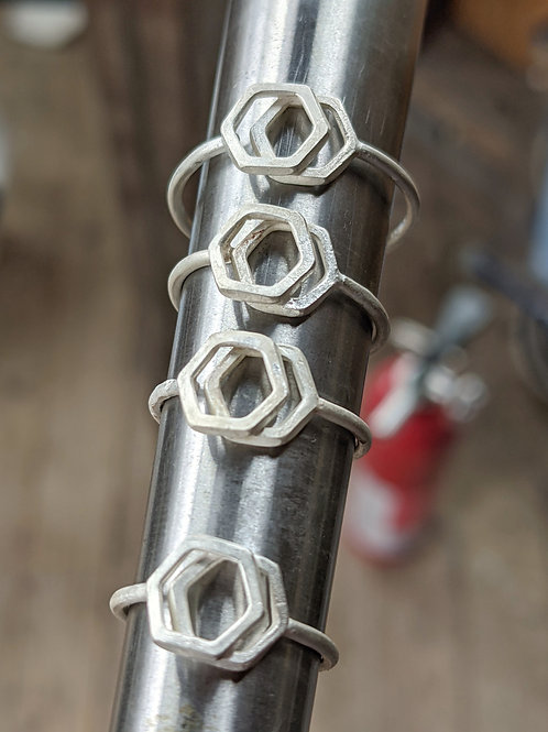 Stacked Hex ring