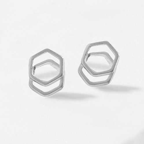 Stacked Hex Studs