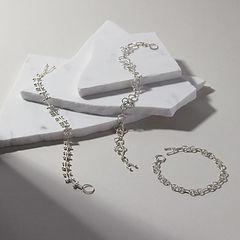 Handmade Chain Bracelets in Argentium Silver.jpg