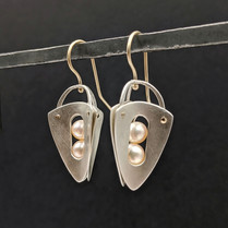 14K Gold and Argentium Silver Voyage Earrings