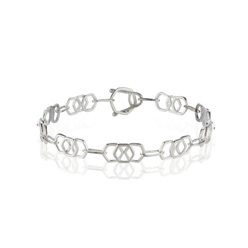 Inline Honeycomb Handmade Chain Bracelet