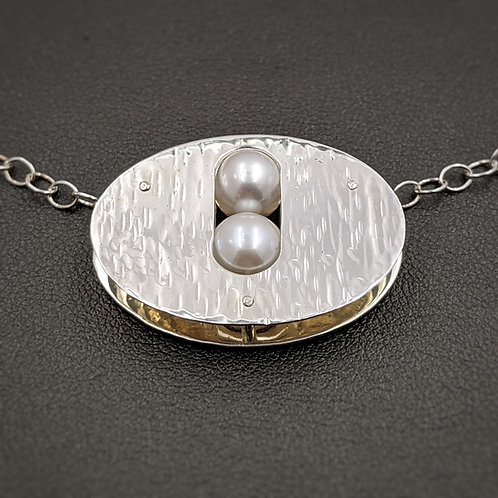 Orbit Necklace with Pearls