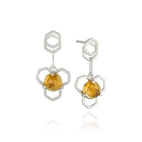 Citrine Honey Drop Earrings