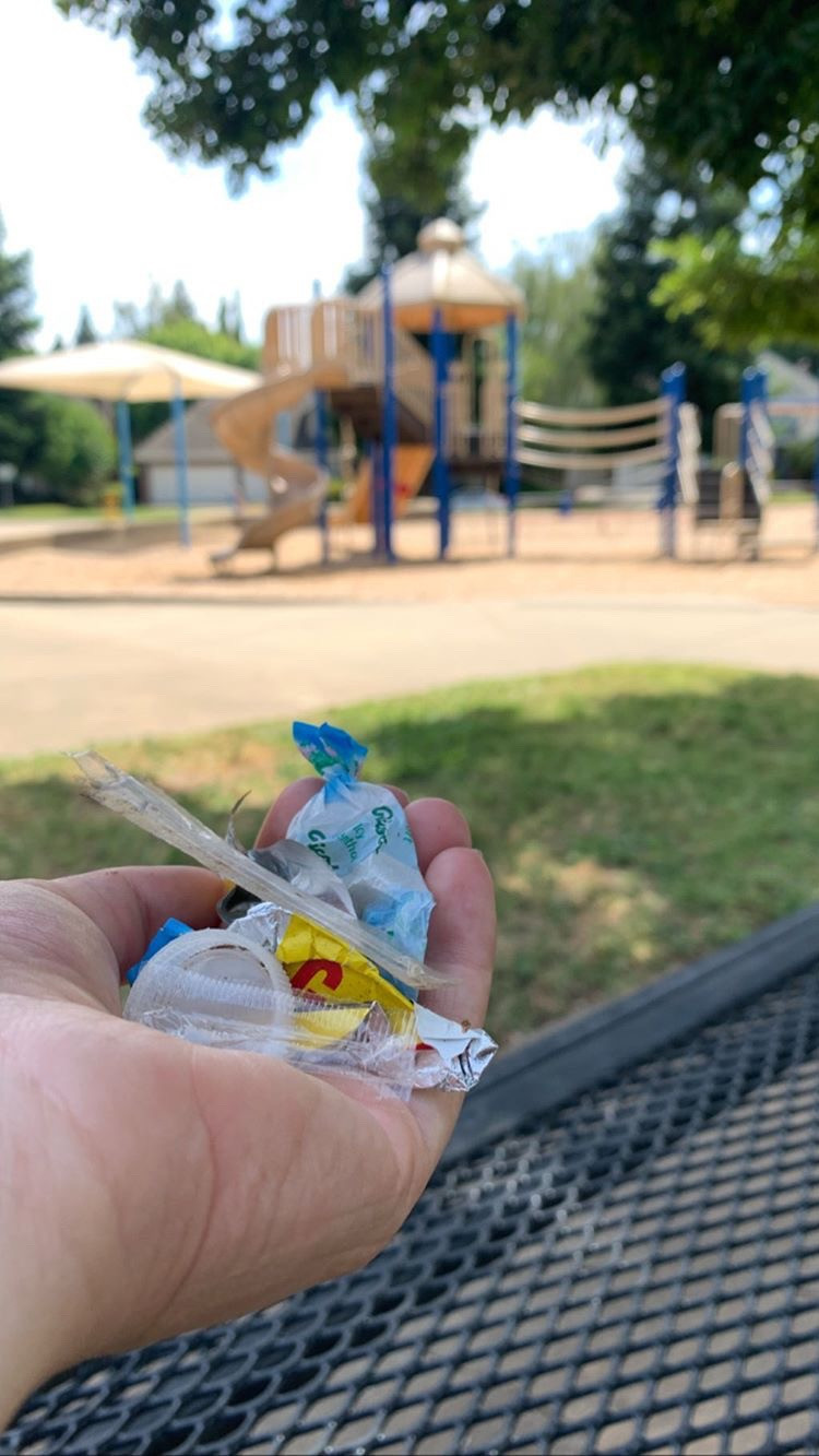 Picked up a handful of trash at the local park.