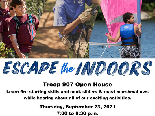 Scouts Open House Event Sept 23rd
