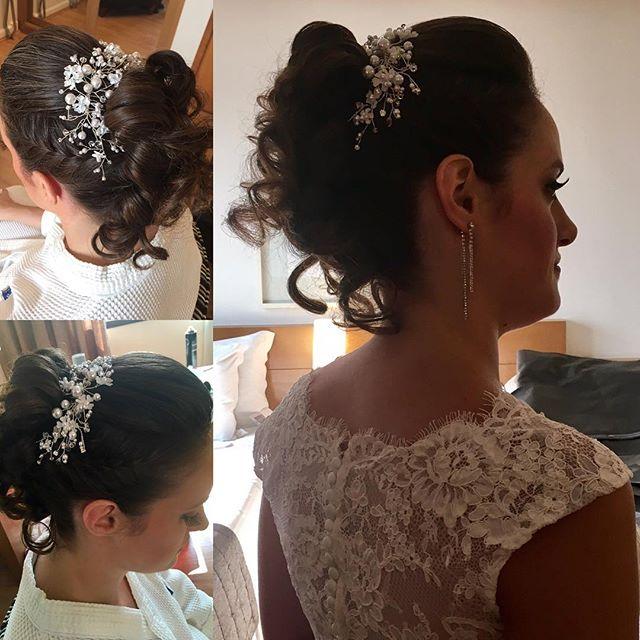 Um pouco mais do cabelo da noiva de hoje #diadanoiva #casamento #noiva #penteado #vocêexclusiva