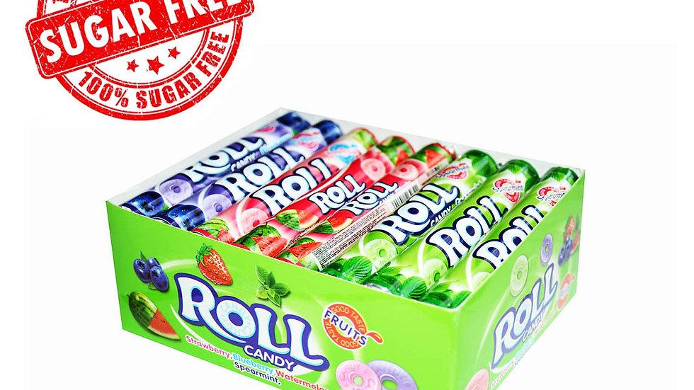 Cukierki bez cukru ROLL 24 szt.
