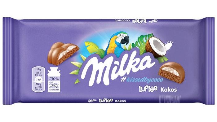 Milka Bubbly Kokos 100g.