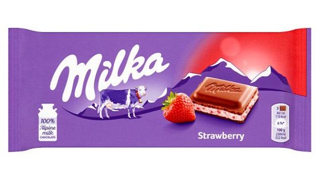 Milka Truskawka 100g.