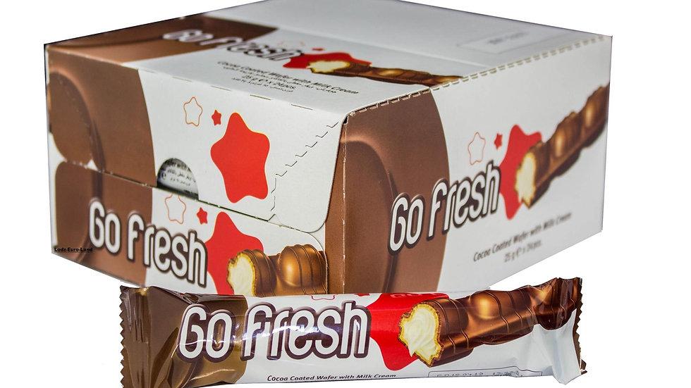 Batoniki GO FRESH czekoladowe nadziewane 24szt.