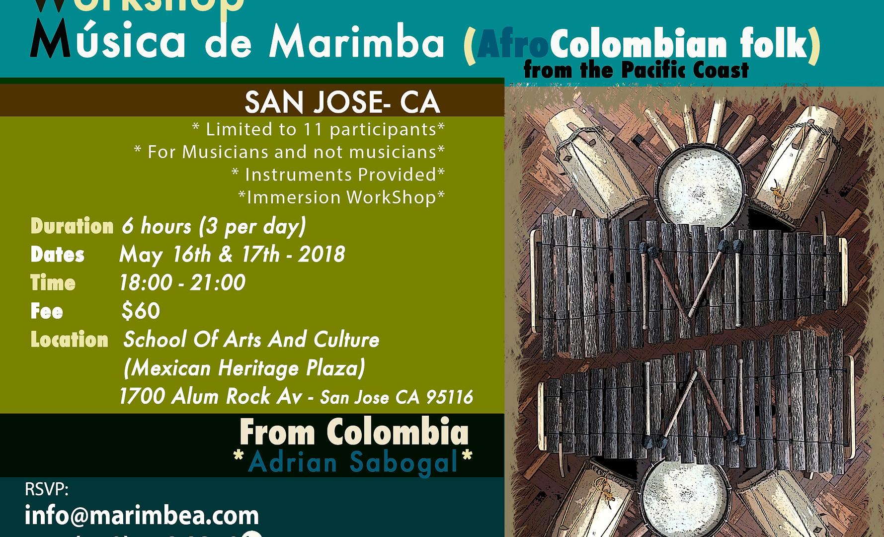 Taller Marimbea Tour USA 2018