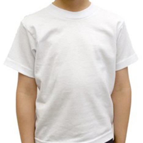 Kids Short Sleeve T-Shirt-White (6-pack)