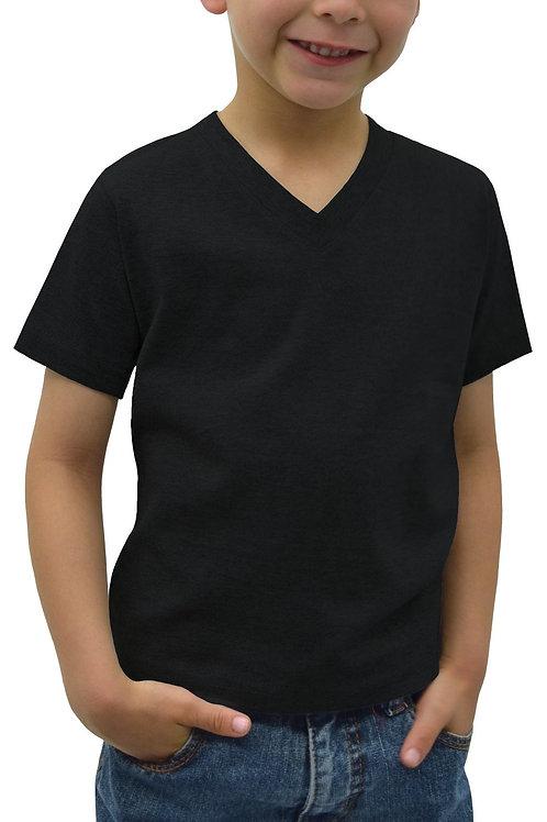 Kids V-Neck Short Sleeve T-shirt (6-pack)