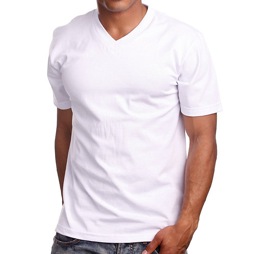 V-Neck T-Shirt-White