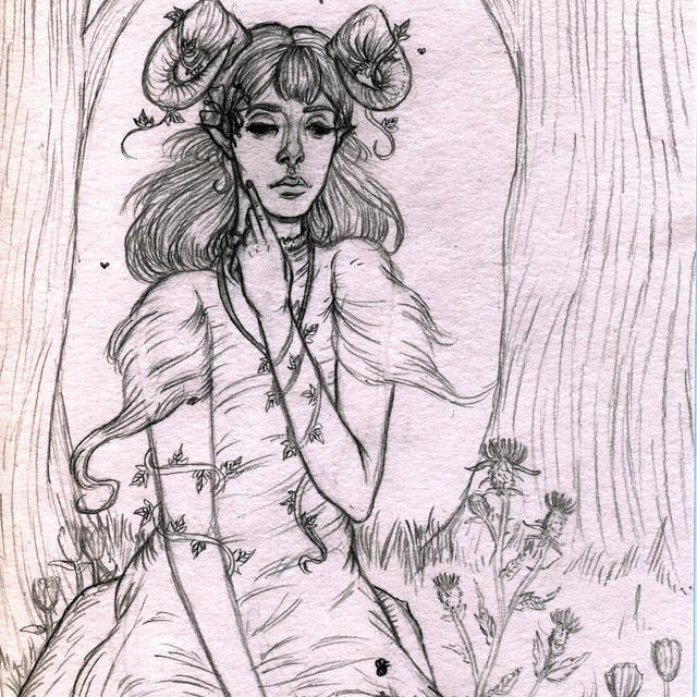'Aries' pencil sketch