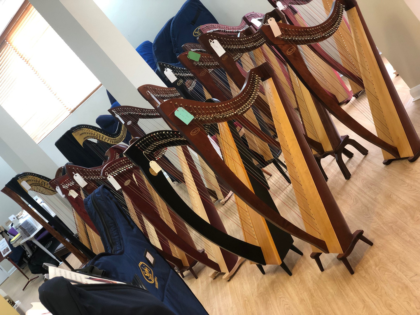 You don't need to bring your own harps!
