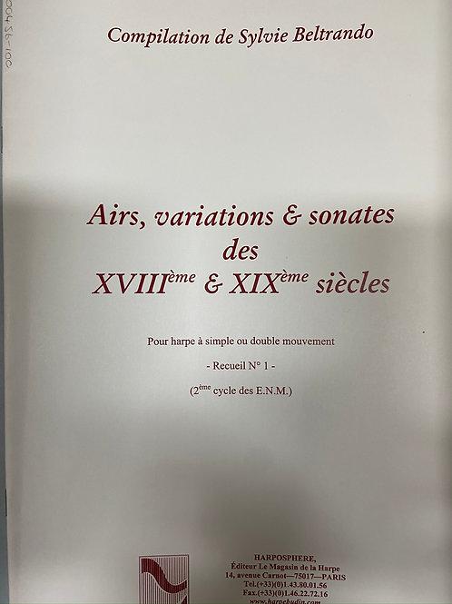 Beltrando: Airs, Variations et Sonates  XVIII and XIX