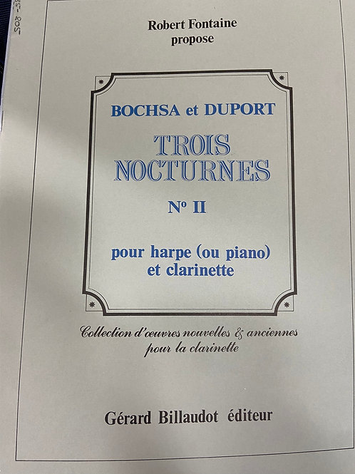Bochsa and Duport: Trois Nocturnes #2 cl and hp