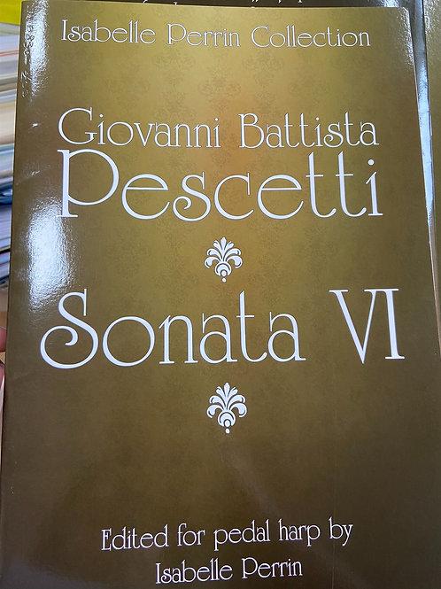 Pescetti: Sonata no. 6 Ed. Perrin