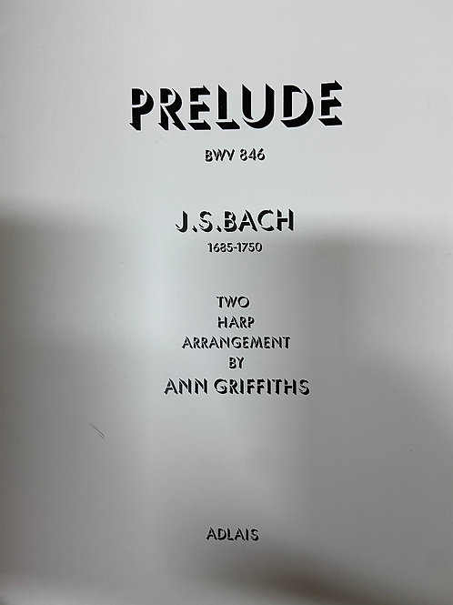 Bach: Prelude BWV846 arr. for 2 harps by Griffiths