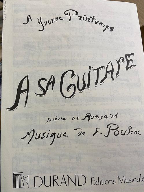 Poulenc: A Sa Guitare