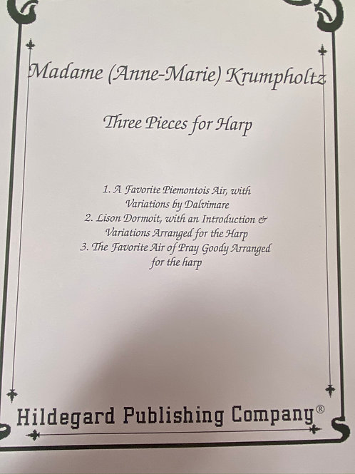 Krumpholtz: Three Pieces for Harp