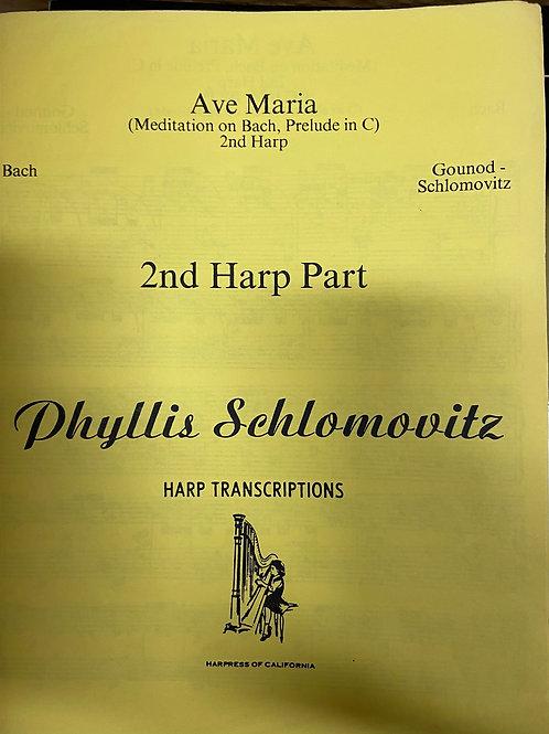 Bach: Ave Maria 2nd harp part arr. Schlomovitz