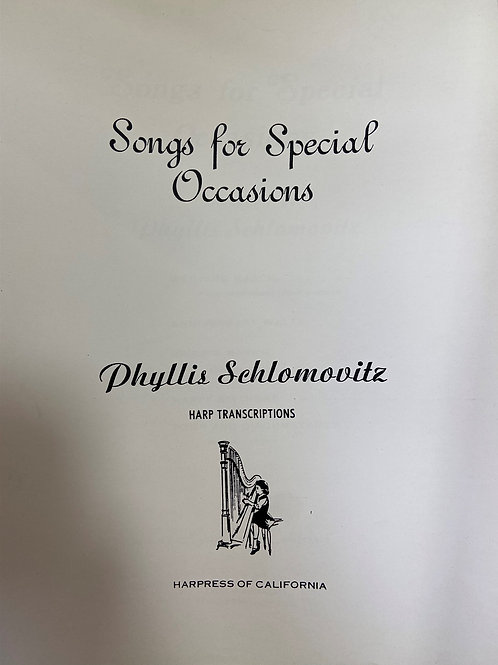 Schlomovitz: Songs for Special Occasions
