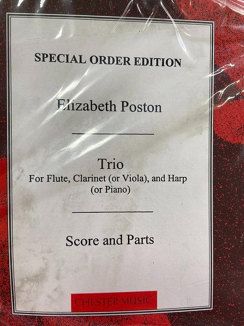 Poston: Trio for flute, clarinette and harp