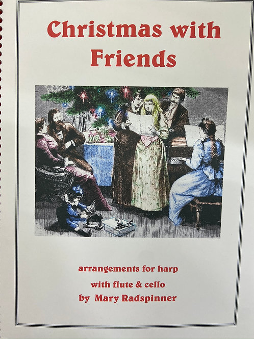 Radspinner: Christmas With Friends for harp, flute and cello