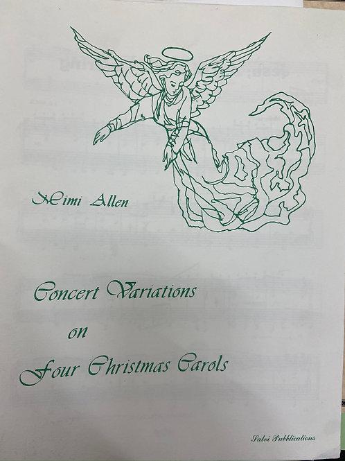 Allen: Concert Variations on Four Christmas Carols